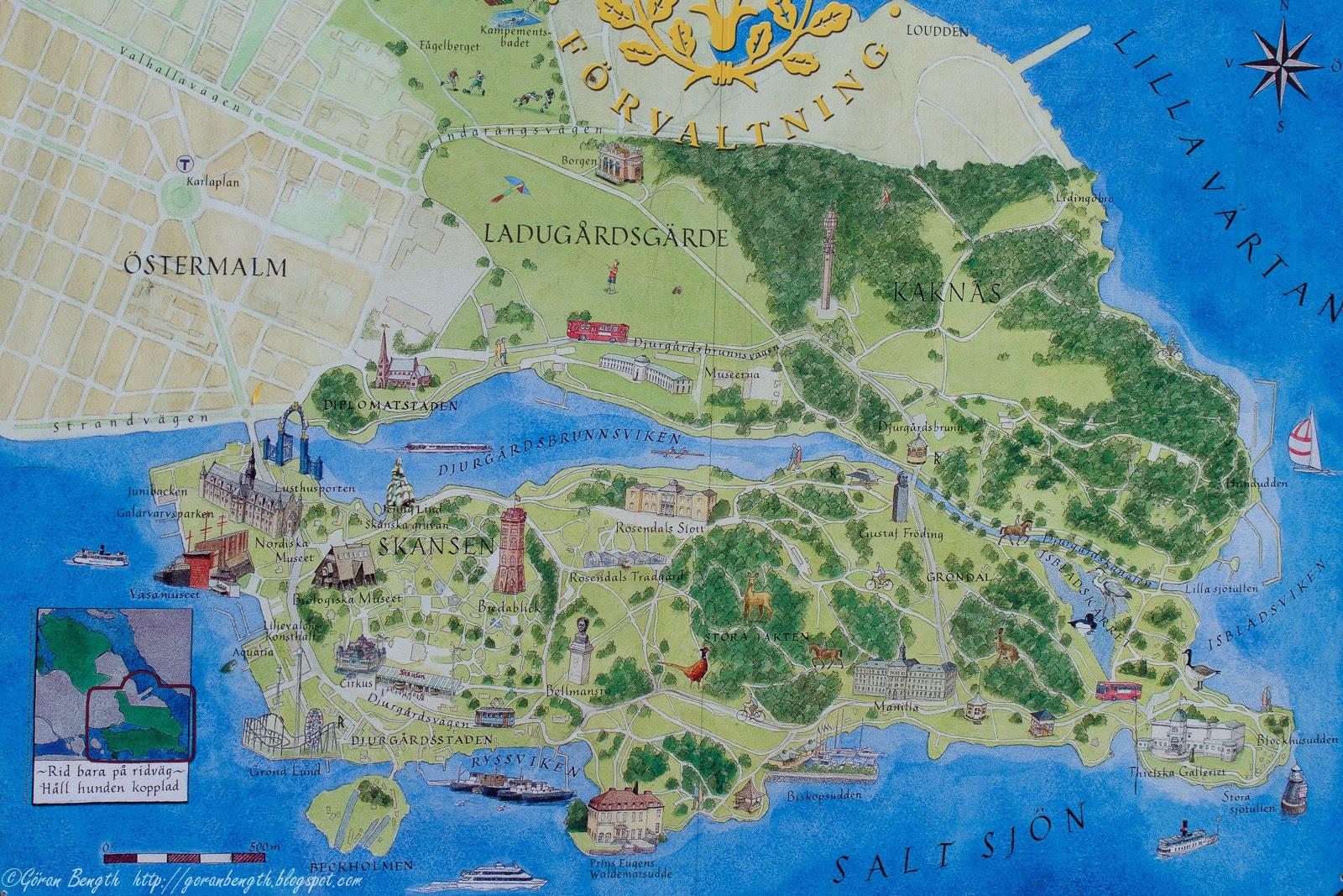 karta djurgården Promenadtips i Djurgården | promenadtipsidjurgarden karta djurgården